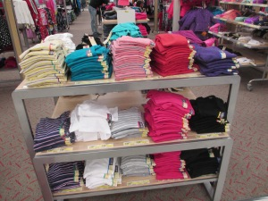 The cheap cotton/spandex underclothes are located here