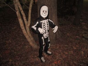 Thin polyester costumes do not keep children covered or warm